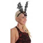 Linen Gold Leather Flower Crown Headband Fascinator H1802