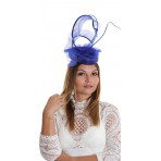 Cobalt Heart Shape Pillbox Fascinator H1826