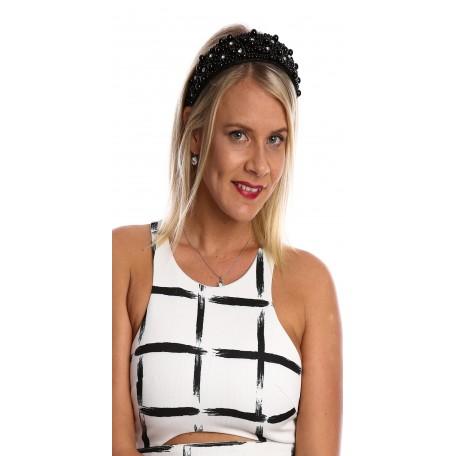 Pearls Headband H1829 Black